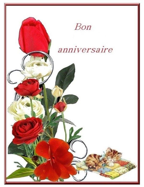 Turbo anniversaire carte fleurs GB32