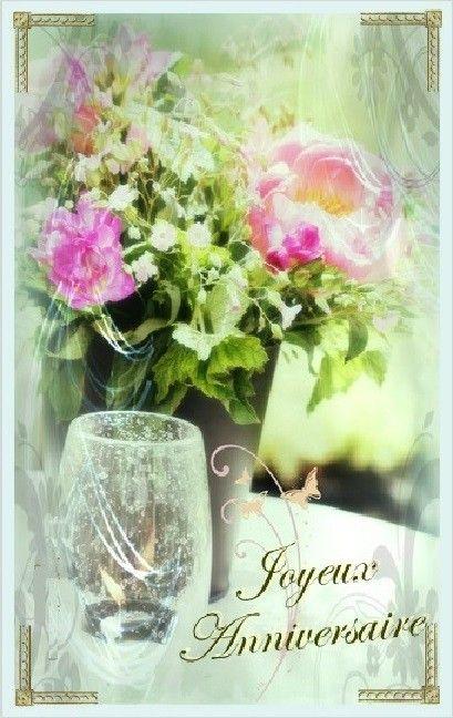 Bon Anniversaire Carte Fleurs